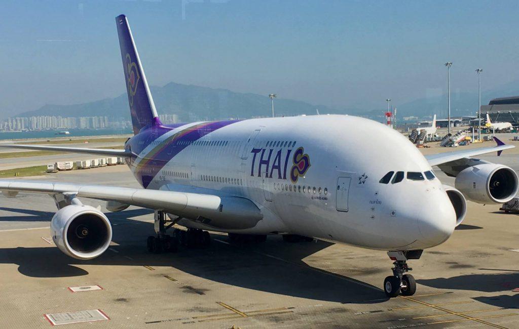 Thai A380 . Hong Kong