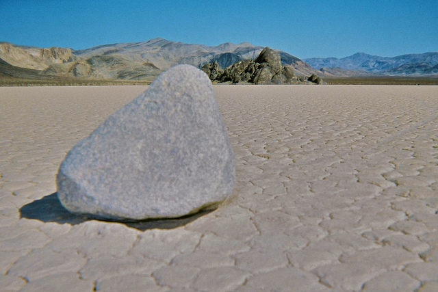 Racetrack Playa . Death Valley