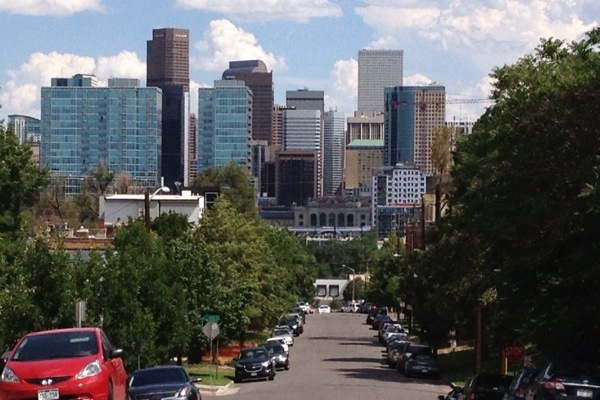 Downtown Denver from Highlands
